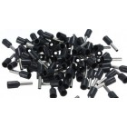 CORD END SLEEVE CONNECTOR - 1.50mm² (BLACK)