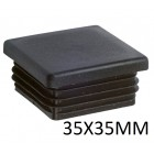 Square inner cap 35X35MM PVC Black