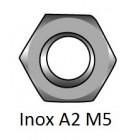Tuerca Hexagonal DIN 934 Inox A2 M5