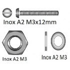 BOLT SET 12 PCS ( SCREWS, NUTS & WASHERS)