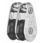 Double Pulley up to 5 mm - Stainless, Plastic
