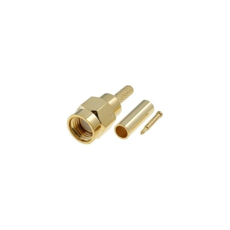 SMA male - crimping - for RG174 / 316 cable
