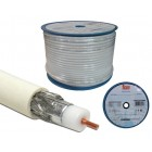 Coil Cable Coaxial RG6 White (100 m) - TEKA