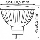 MR16 GU5.3 LED 12V 6W 6000K 500lm - LED-POL ORO-MR16-SIX-6W-BZ