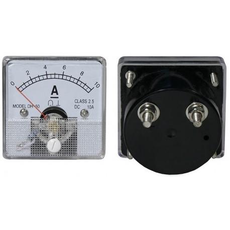 10A DC (51x51mm) Panel Ammeter Round