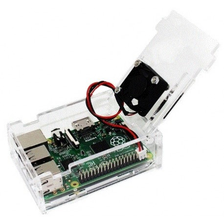 Transparent Case + Fan for Raspberry Pi Model B + / Pi 2 B / Pi 3