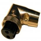 Female microphone plug 2-pin 90º cable