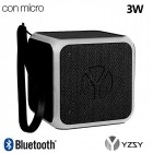 YZSY Flashy Black Universal Music Cube Bluetooth Speaker (3W)