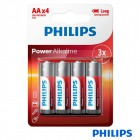 Alkaline batteries 1,5V LR6 / AA - Philips (Pack 4 Uds)