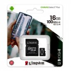 Memory Card 16GB MicroSD SDCS2 100 MB/s (Clase 10) - Kingston Technology Canvas Select