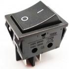Black rocker push button OFF- (ON) (DPST) 16A.-250V 16A.-125V