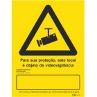 Signaling plate for video surveillance (portuguese)- 200x300mm