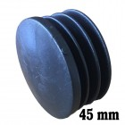 Round inner cap 45MM PVC Black