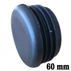 Round inner cap 60MM PVC Black