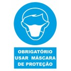 Signaling plate PVC '' Use of protective mask '' 150x200mm (portuguese)