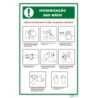 Signaling plate PVC '' Hand hygiene '' 300x400mm (portuguese)