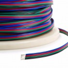 4-color flat cable (4x0.14mm²) for RGB tapes - 5m roll