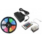 IP65 RGB LED Strip Pack (5 mts) 12V + Controller + Power Supply