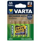 Rechargeable Batteries 1.2V 1000mAh Ni-Mh - AA [4 pcs] - VARTA