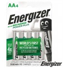 Rechargeable Batteries 1.2V 2000mAh Ni-Mh - AA [4 pcs] -ENERGIZER Power Plus
